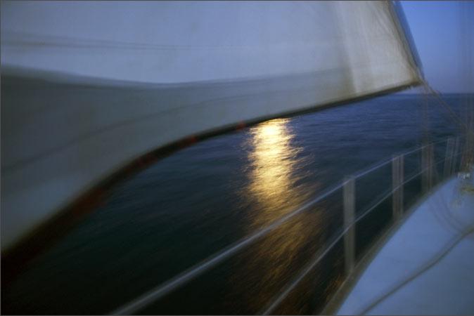 Nuit en mer photographiée par Anne-marie Louvet
