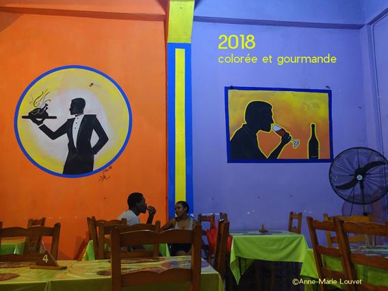 Photographie prise en Haïti, voeux 2018 d'Anne-Marie Louvet