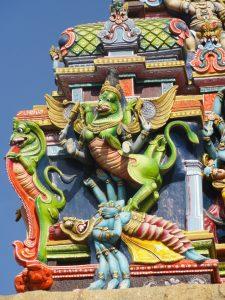 Sculptures sur un temple de Madurai en Inde par Anne-Marie Louvet photographe